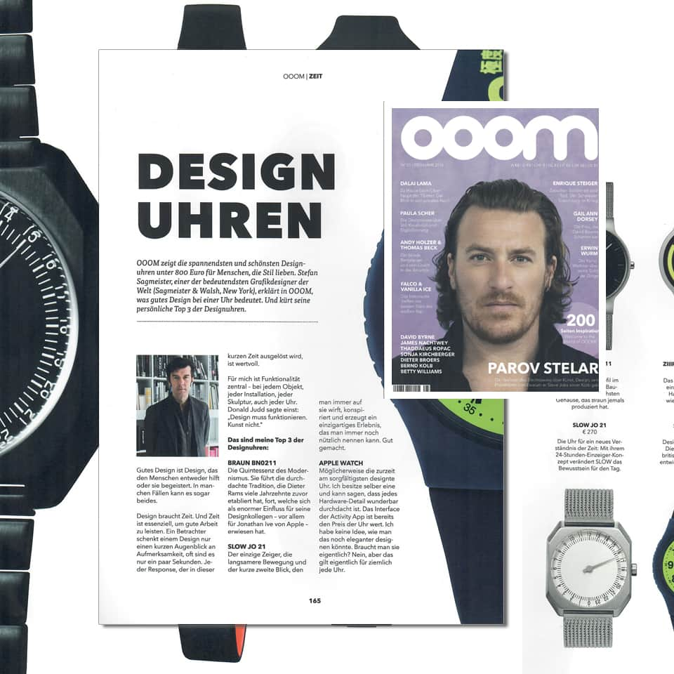 article about slow Jo design watch